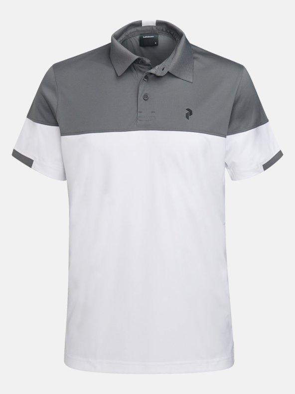 Peak Performance Golf Player Block Polo Mörkgrå