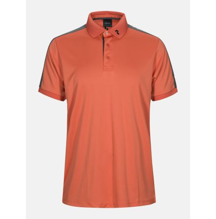 Peak Performance Golf Player Polo Red Clay