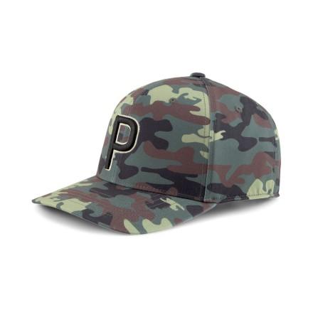 Puma Golf P110 Snapback Cap Camo Thyme