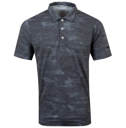 Puma Golf Solarized Camo Polo Black