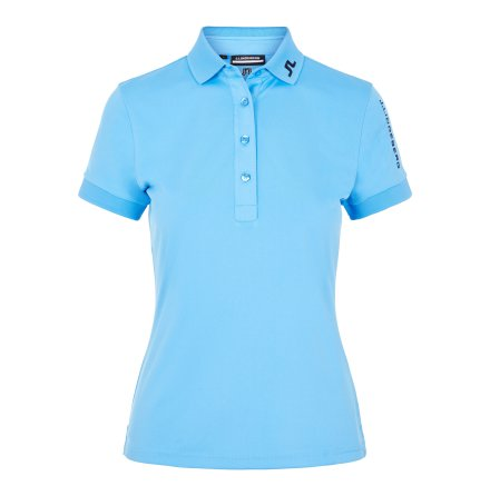 J Lindeberg Golf W Tour Tech TX Jersey Ocean Blue