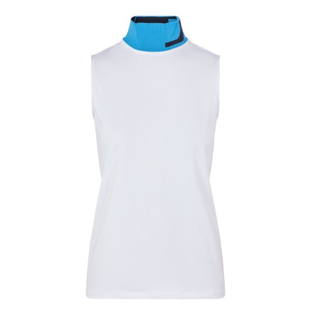 J Lindeberg Golf Lou Sleeveless Top White