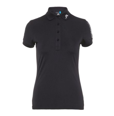 J Lindeberg Golf W Tour Tech TX Jersey Black