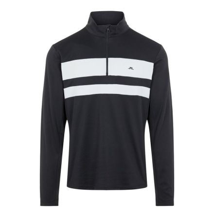 J Lindeberg Golf Bran Midlayer Black