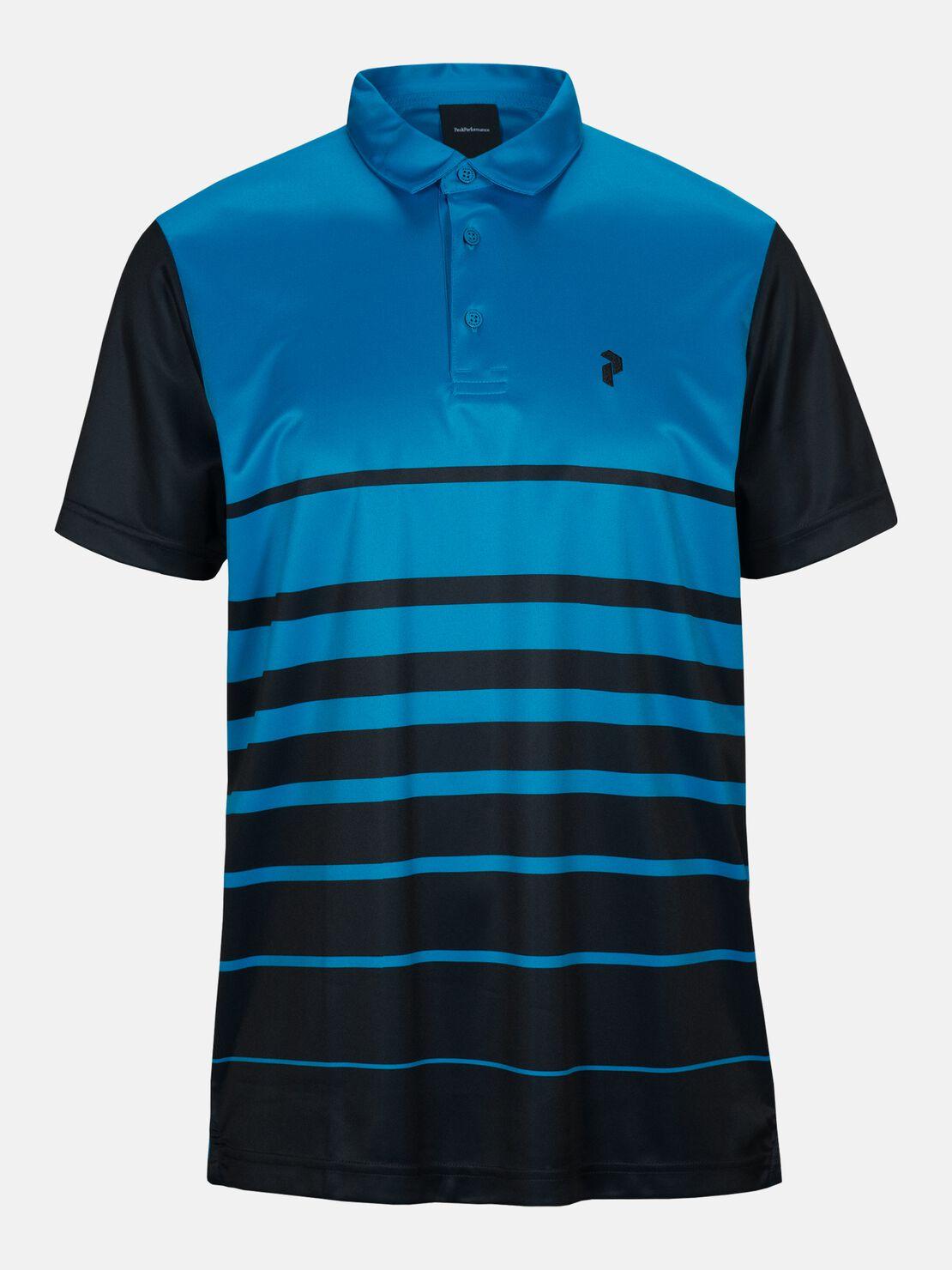 Peak Performance Golf Bandon Print Polo Clay Red