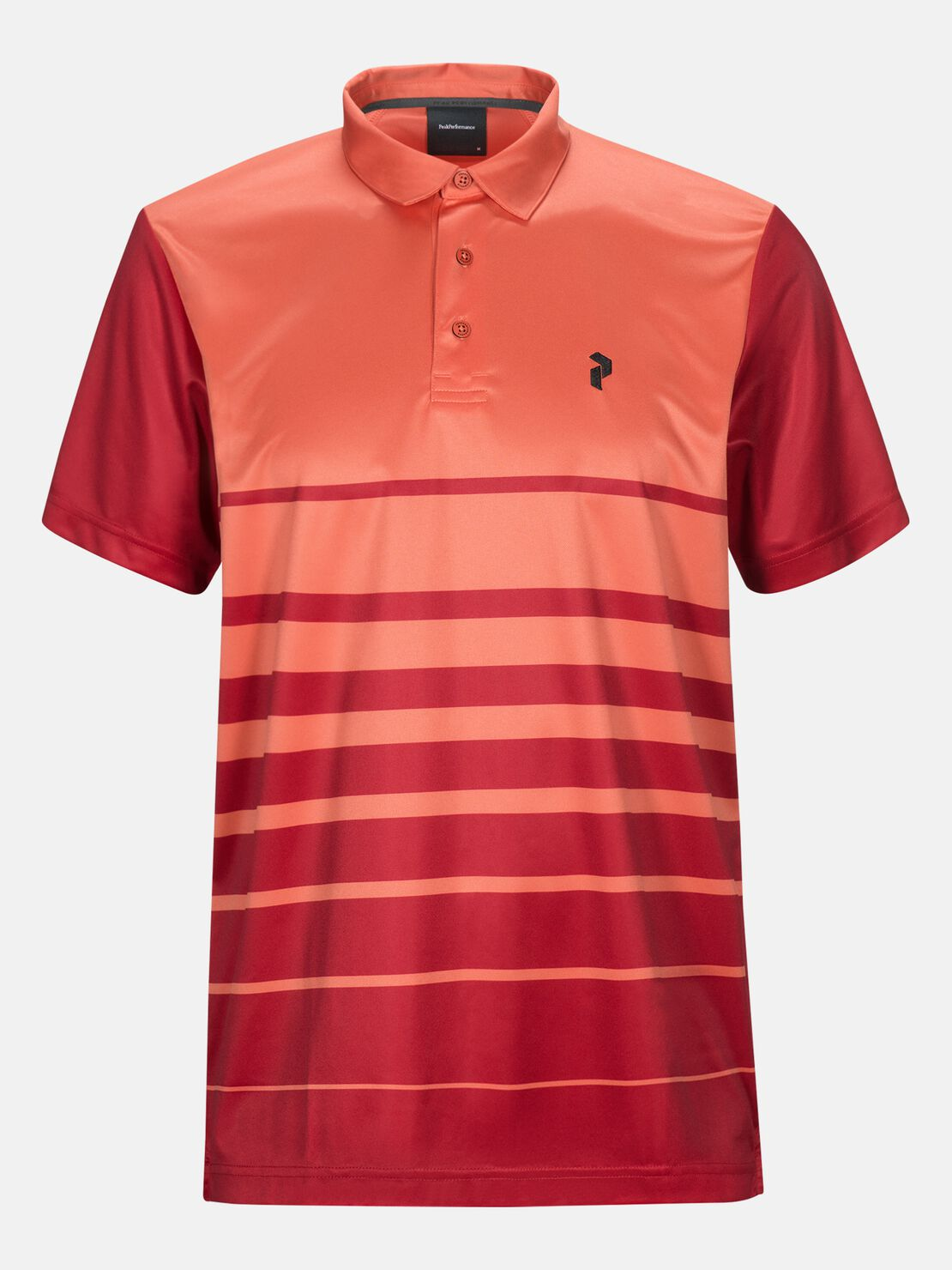 Peak Performance Golf Bandon Print Polo Clay Red
